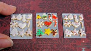 1:12 Christmas Sugar Cookies by PepperTreeArt