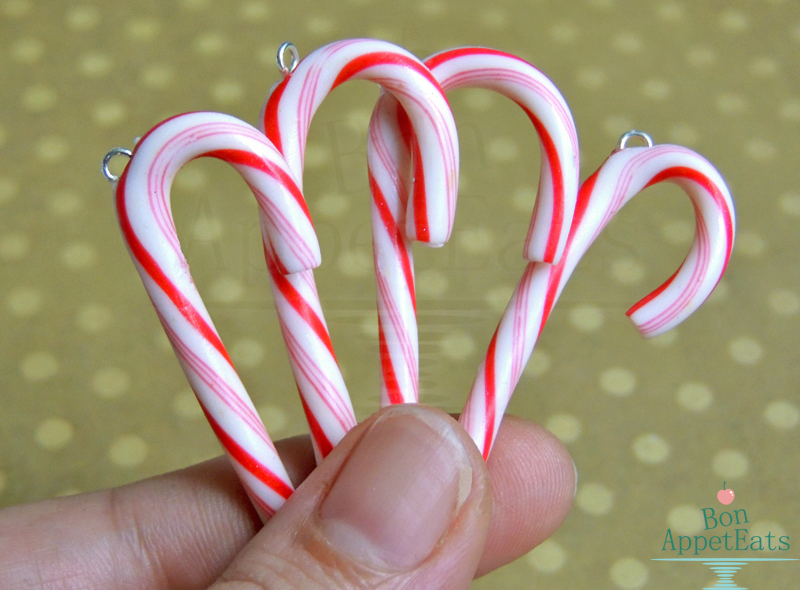 Small Candy Cane Charms by Bon-AppetEats