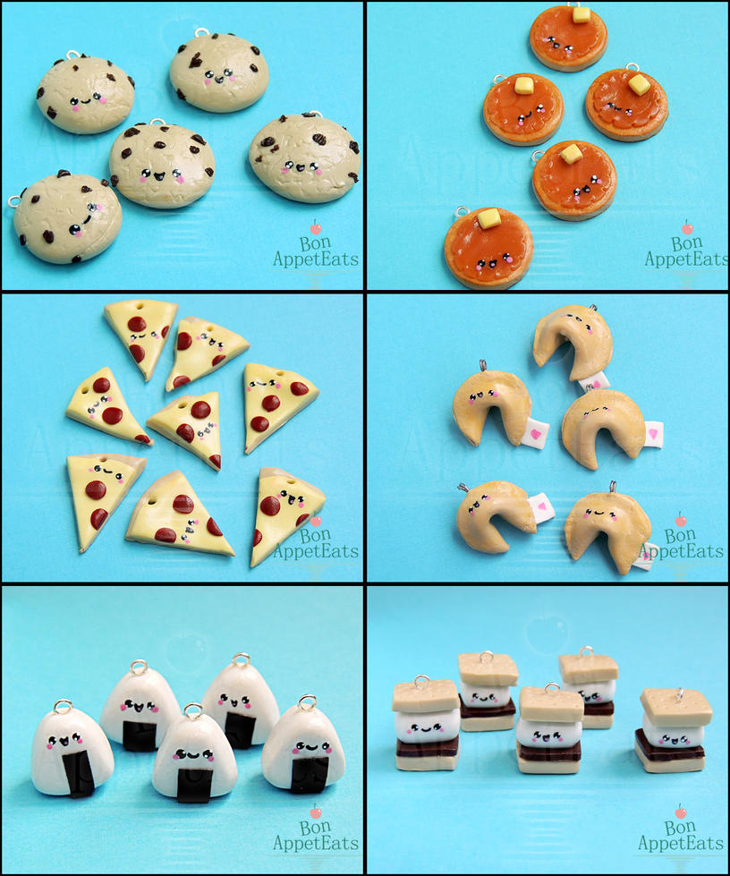 Animate!Miami Cute Food Charms, Set 1 by Bon-AppetEats
