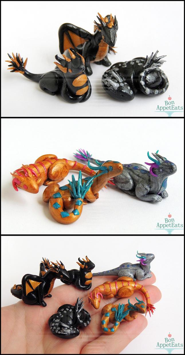 Miniature Dragons by Bon-AppetEats