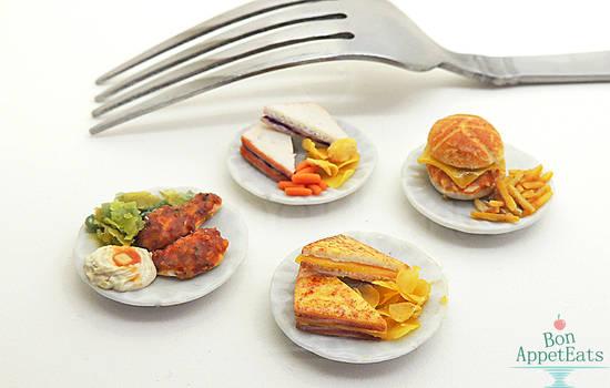 1:12 Food on Ceramic Plates