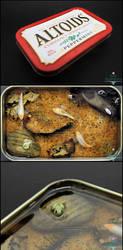 Gift - Large Altoids Tin Koi Pond by PepperTreeArt