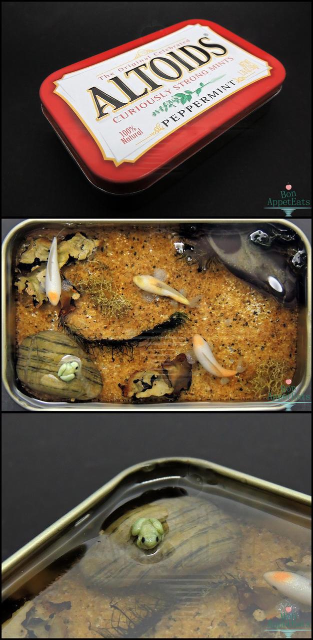 Gift large altoids tin koi pond by bon appeteats on for Koi fish gifts