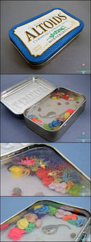 For Sale - Miniature Coral Reef Altoids Tin by PepperTreeArt