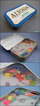 For Sale - Miniature Coral Reef Altoids Tin