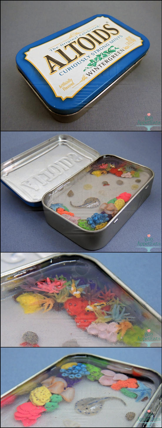 For Sale - Miniature Coral Reef Altoids Tin by Bon-AppetEats