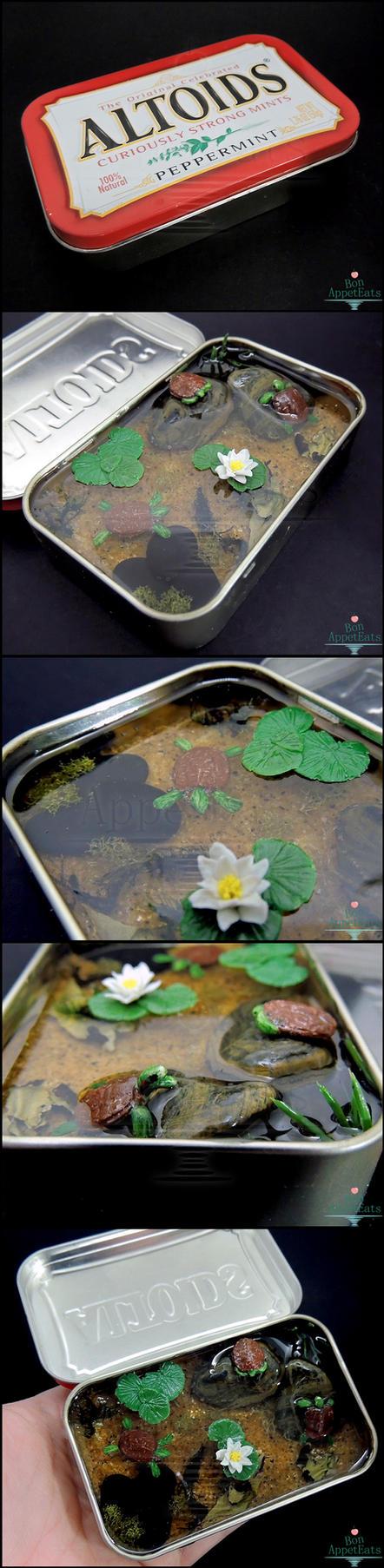 Commission: Large Altoids Turtle Pond by Bon-AppetEats