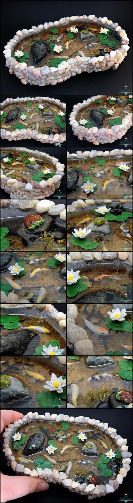 Commission: Large Stone Pond by Bon-AppetEats