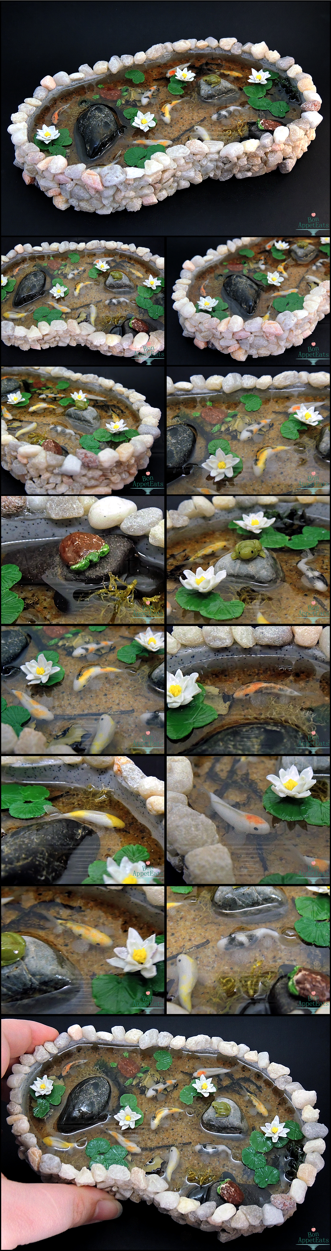 Commission large stone pond by bon appeteats on deviantart for Stone koi pond