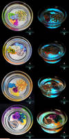 Glow in the Dark Reef Glass Cups