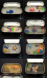 Pokemon Altoids Tins by PepperTreeArt