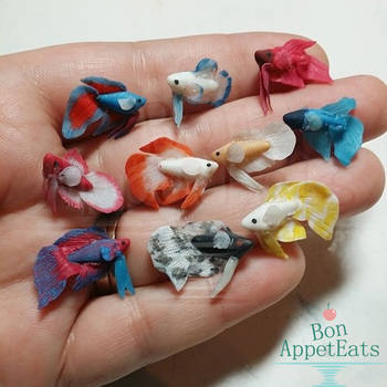 Miniature Betta Fish WIP by PepperTreeArt
