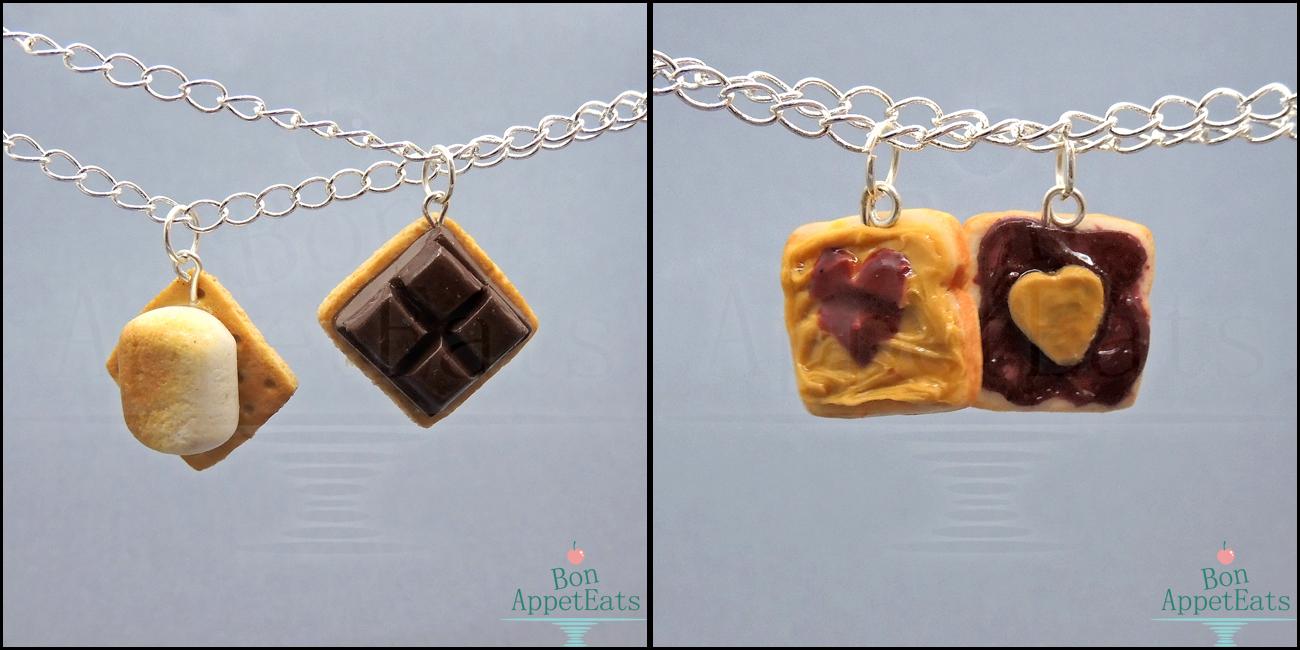 Best Friend Necklaces, Set 1 by Bon-AppetEats