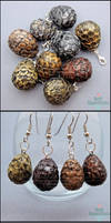 New Items - Dragon Eggs and Jiji Earrings by PepperTreeArt