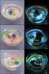 Ocean Themed Glow in the Dark Miniature Ponds