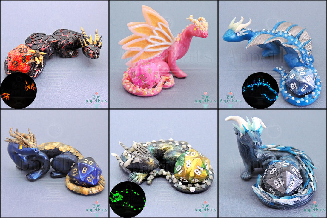 New Dice Holder Dragons by PepperTreeArt