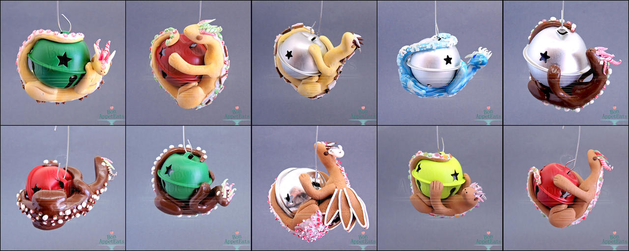 Dragon Christmas Ornaments by Bon-AppetEats on DeviantArt