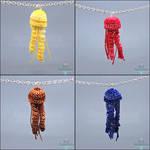 Crochet Jellyfish Necklaces