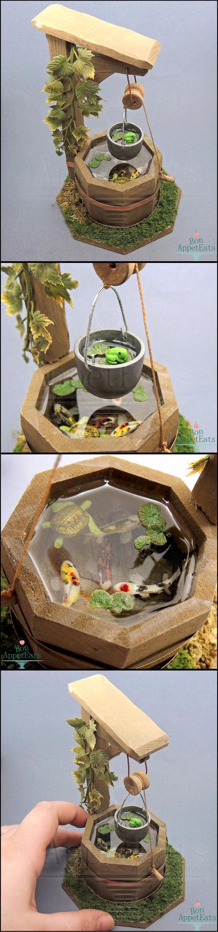 1:12 Dollhouse Scale Miniature Well Pond by Bon-AppetEats