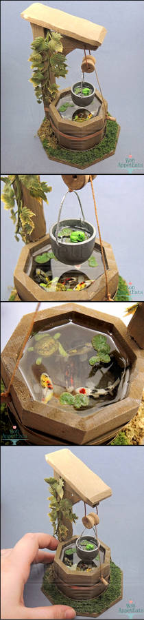 1:12 Dollhouse Scale Miniature Well Pond