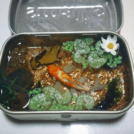 Commission altoids smalls koi pond by bon appeteats on for Miniature koi fish