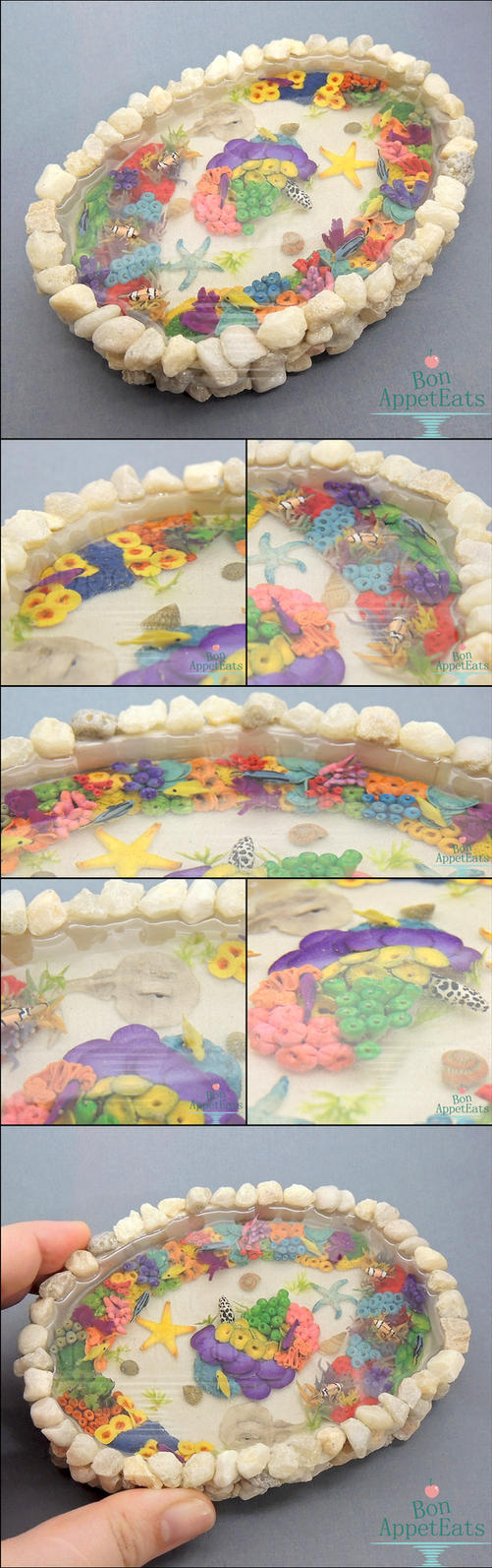 Commission: Miniature Coral Reef Pond by Bon-AppetEats