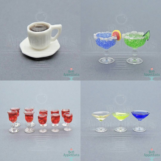 Sale - Dollhouse Scale Drinks by Bon-AppetEats