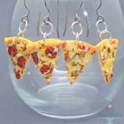 Realistic Pizza Slice Hanging Earrings