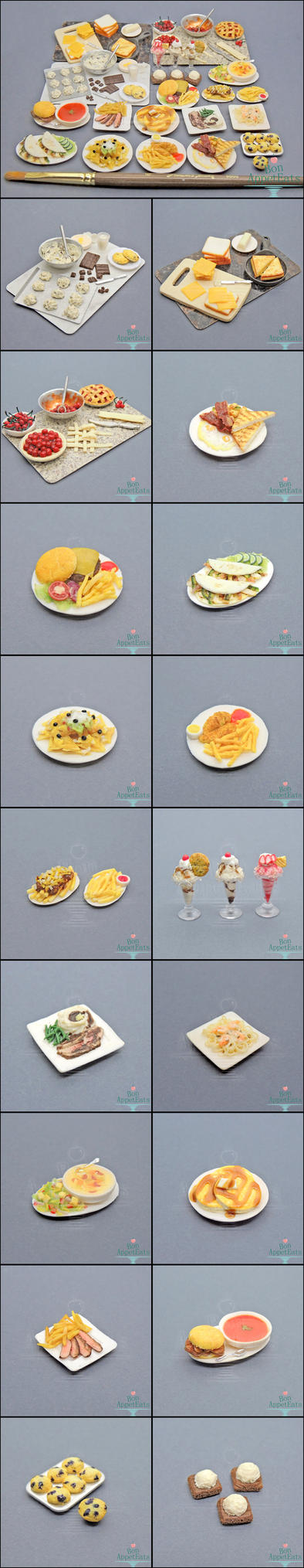 Commission - 1:12 Scale Dollhouse Foods by Bon-AppetEats
