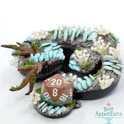 Forest Dragon Dice Holder by PepperTreeArt