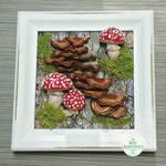 Bark and Mushroom Picture Frame