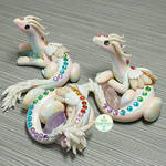 Pastel Rainbow Scrap Clay Dragons
