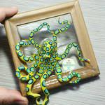 Blue Ringed Octopus Picture Frame Pond by PepperTreeArt