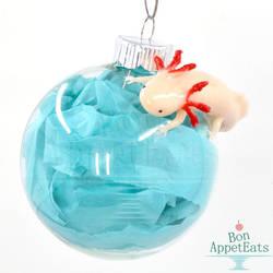 Axolotl Glass Ornament