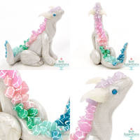 Small Rainbow Crystal Dragon by PepperTreeArt