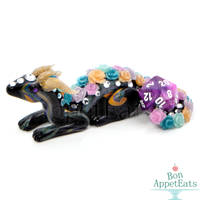 Crystal Rose Dragon Dice Holder by PepperTreeArt