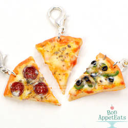 New Pizza Charms! by PepperTreeArt