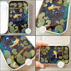 Commission - Galaxy Goldfish Tin Pond