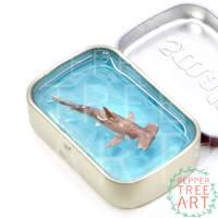 Hammerhead Shark Altoids Smalls Pond by PepperTreeArt