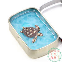 Sea Turtle Altoids Smalls Pond by PepperTreeArt