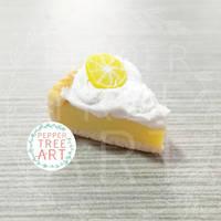 Lemon Meringue Pie Charm by PepperTreeArt