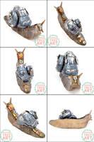 Steampunk Snail by PepperTreeArt