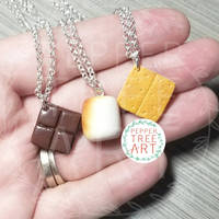 Commission - S'mores Best Friend Necklaces
