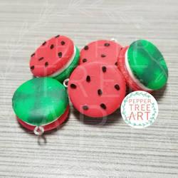 Watermelon Macaron Charms