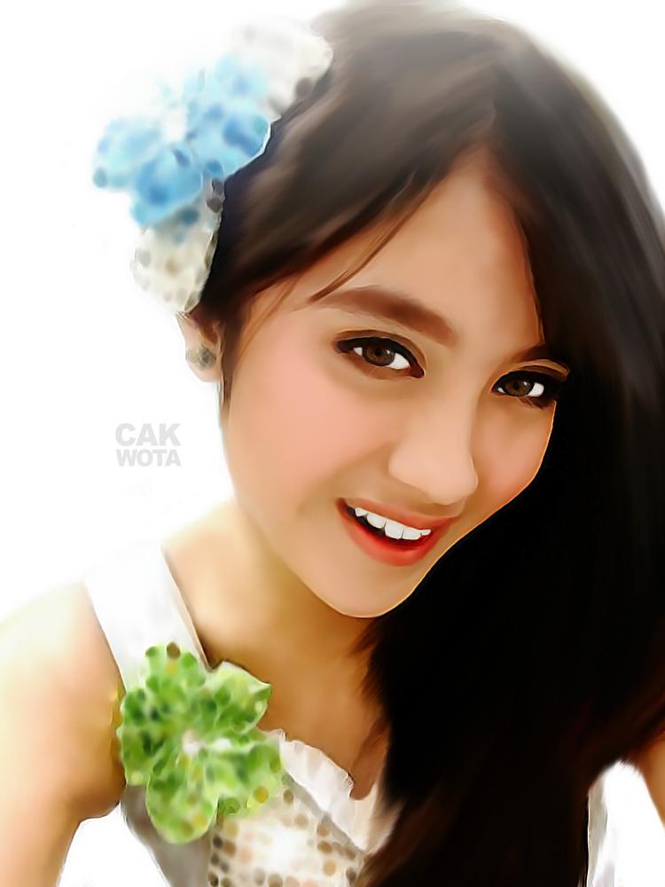 Nabilah JKT48   Smudge Art  Nabilah Jkt48 2014