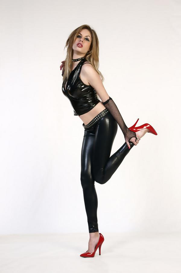DeviantArt: More Like Black latex-Red High Heels by CrowsReign-Stock