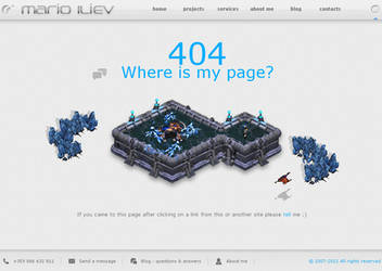 Web design 404 page - Brood War by dnb-nOise