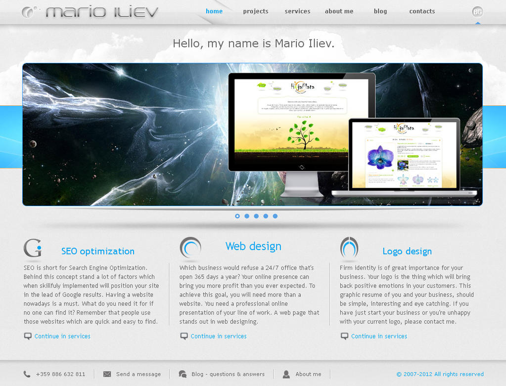 Web design - Portfolio website by dnb-nOise