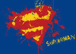 Superman splatter logo