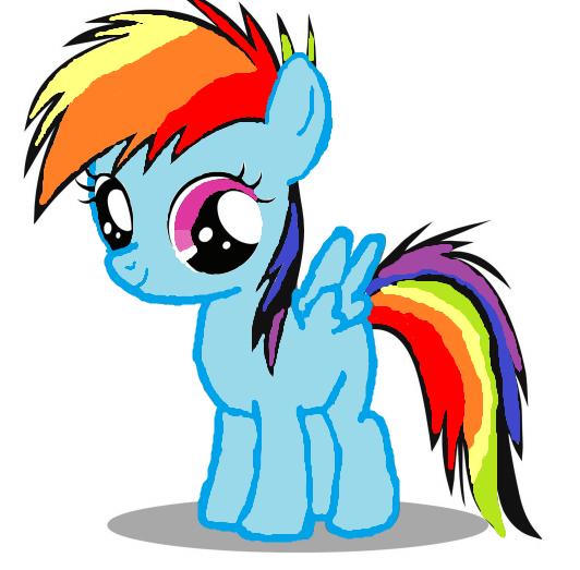 how to draw rainbow dash easy